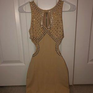 BEBE studded cutout dress XXS